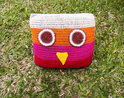 Almofada Coruja Crochet