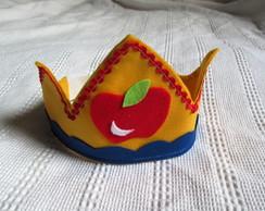 Coroa Feltro Princesa Branca De Neve
