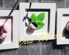 Quadrinhos joaninhas e flores