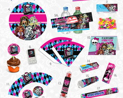 Kit festa Monster High impressa