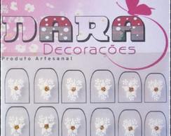 Adesivos Flor branca
