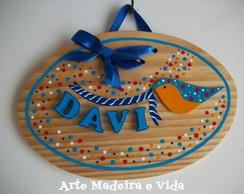 Placa Porta Maternidade - Davi