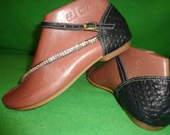 sand�lias de couro legitimo