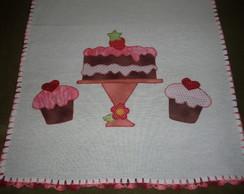 Pano de prato Bolo e Cupcake