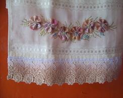 toalhas para lavabo bordadas a m�o