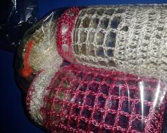 conjunto de potes com porta sabonete