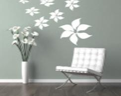 Adesivo De Parede - 9 Flores