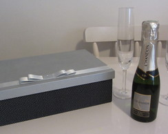 Caixa MDF Mini Champagne e Ta�as