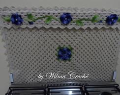 Tampa de fog�o 06 bocas flor azul