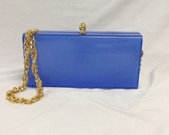 Clutch Acr�lica Color Blue