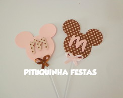 Topper Minnie Rosa E Marrom