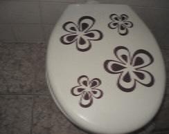 Adesivo Decorativo flores vaso sanit�rio