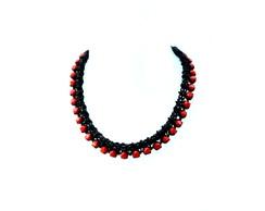 Colar Black Red