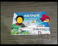 Convite Personalizado angry birds