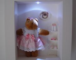 (MA 0128) Quadro maternidade ursa c/led