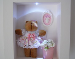 (MA 0129) Quadro maternidade ursa c/led