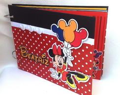 �lbum com caixa Minnie vermelha