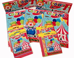 Revista Colorir Circo giz 12 e massinha