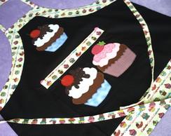 Kit Avental Cupcakes c/Toca.