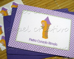 Cart�o Personalizado - Menina Rapunzel