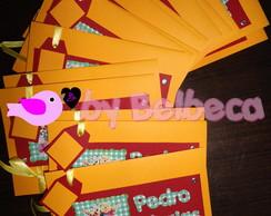 Convites scrapbooking Ursinho Pooh