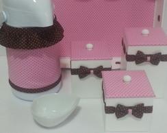 Kit Higiene Petit Po� Rosa e Marrom