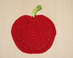 PORTA-COPOS DE CROCHE (APPLE)