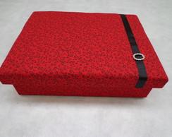Porta J�ias P Floral vermelho
