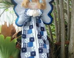Porta Fraldas Anjo Azul