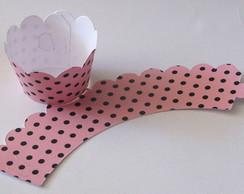 25 Wrappers Cupcake Petit Po� Rosa Po�