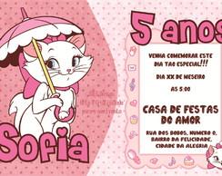 Convite Infantil Gatinha Marie