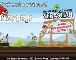 Convite Digital Angry Birds Jogo Game