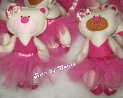 Ursinha bailarina rosa/ marrom