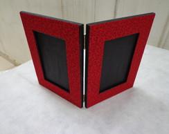 Porta Retrato Duplo Vermelho