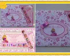 Convite barbie escola de princesas