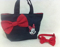 Kit Bolsa + Tiara Minnie
