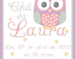 Convite Corujinha - Arte