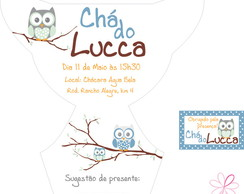 Arte Molde Convite +tag - Ch� de Fraldas