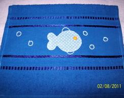 Toalha de lavabo com patch aplique
