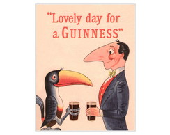 Placa MDF Retr�- Lovely Guinness - 567