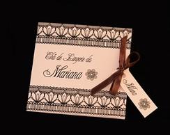 Convite Ch� de Lingerie - Renda