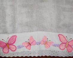 Fralda borboletas cor de rosa