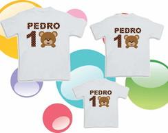 Camisetas Urso Marron e Azul