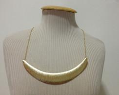 10194- Colar Meia Lua Dourado