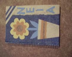 caderno flor personalizado.