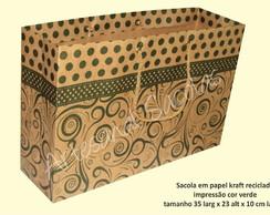 Sacola Kraft Reciclado-impress�o Verde