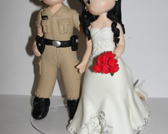 Topo De Bolo Casamento polical Militar