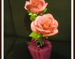 Vaso de Rosas em E.V.A.
