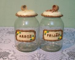 Conjunto de Potes Arroz & Feij�o