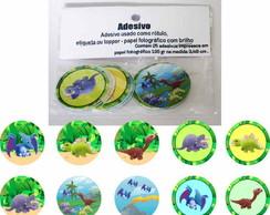 Dinossauros 25 Topper Adesivo